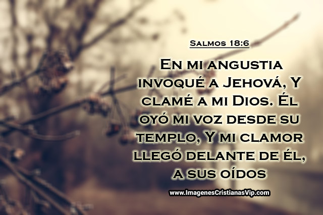 en mi angustia invoque a Jehova imagen cristiana