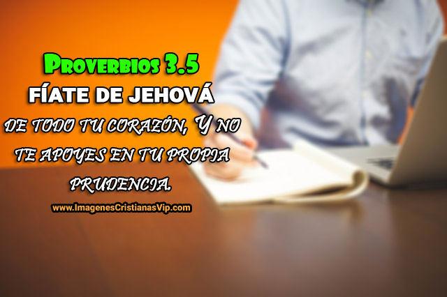 imagen de proverbios fiate en Jehova