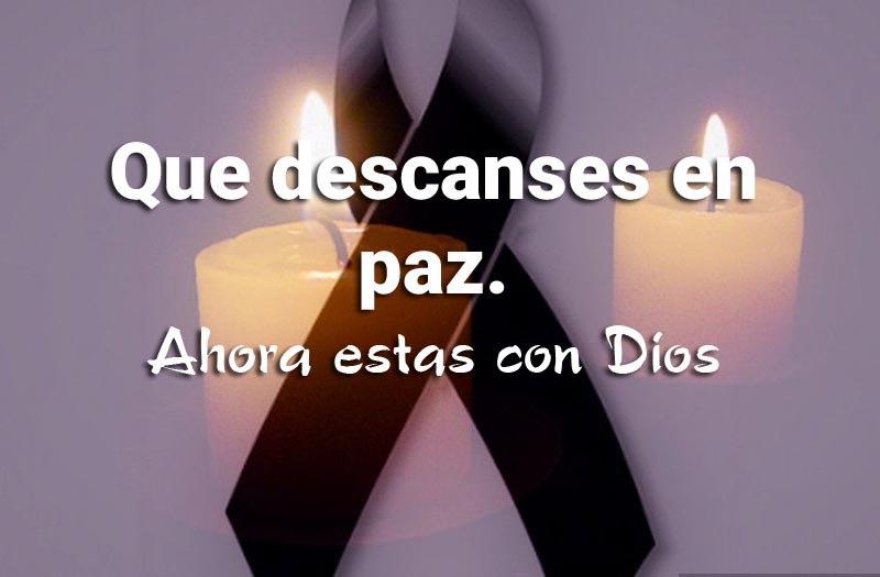 Que descanses en paz hoy estas con dios imagen de luto cristiana
