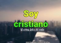 Soy cristiano imagen