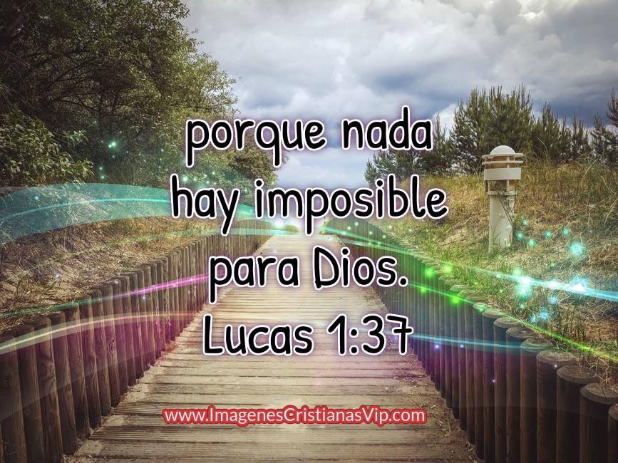 Nada hay imposible para Dios imagenes cristianas
