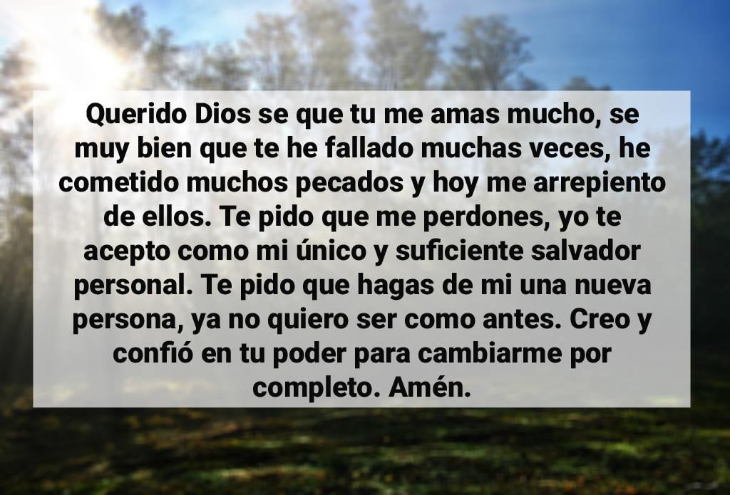 Oracion para aceptar a dios