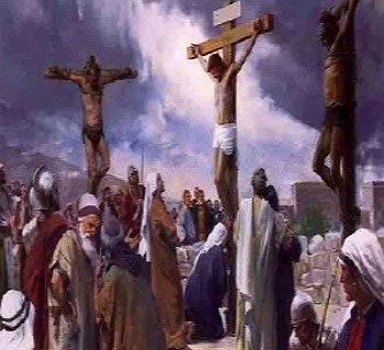 Jesus y los dos pecadores en la cruz