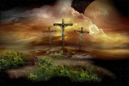 Imagenes de jesus en la cruz y dos pecadores