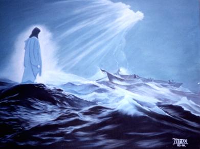 Jesus sobre las aguas