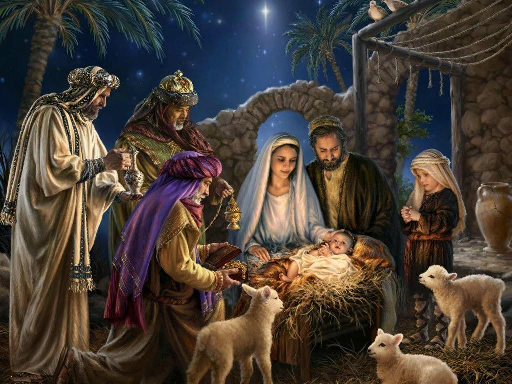 Niño jesus en el pesebre